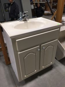 Photo of donated vanity and sink